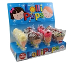 Mom 'n Pops Ice Cream & Cupcake Chocolate Flavored Pops Counter Display