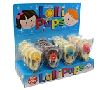 Mom 'n Pops Flip Flop Chocolate Flavored Pops Counter Display
