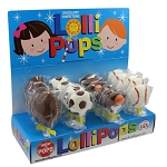 Mom 'n Pops Sport Ball Chocolate Flavored Pops Counter Display
