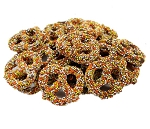 Weaver Chocolates Milk Chocolate Covered Mini Pretzels With Halloween Nonpareils