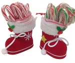 R. L. Alberts Santa Boot w/10 Candy Canes