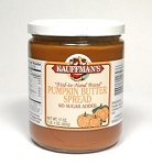 Kauffman's No Sugar Added Pumpkin Butter 17 oz Jars