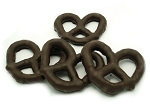 Asher's Dark Chocolate Covered 3 Ring Pretzels