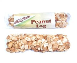 crown peanut logs individually wrapped display box