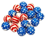 Madelaine Pure Chocolate Foil Wrapped Stars and Stripes Balls