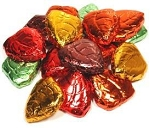 Madelaine Pure Chocolate Foil Wrapped Assorted Colors Fall Leaves