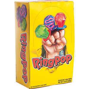 Assorted Fruit Ring Pop .5 oz (24 count Display Box)