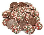 Weaver Chocolates Dark Chocolate Christmas Nonpareil Seeded
