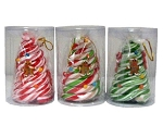 R. L. Alberts Candy Cane Tree in Clear Cylinder