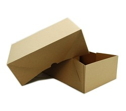 "Brown Candy Box 2 Piece 5 LB Capacity 10.5""x7.5""x3.75"""