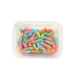 Land Of The Gummies Sour Neon Worms 12.5 oz Tubs