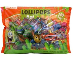 Frankford Nickelodeon Assorted Lollipops Lay Down Bag