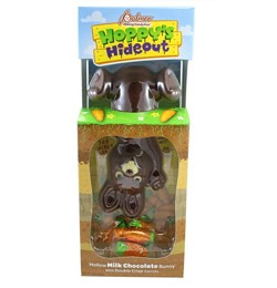 RM Palmer Hoppy's Hideout 12 oz Hollow Milk Choc Rabbit with Double Crisp Carrot