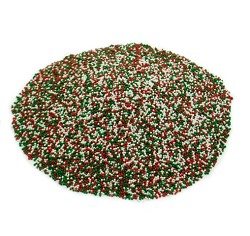 Weaver Nut Jingle Nonpareils (Red, Green & White) in a Drum