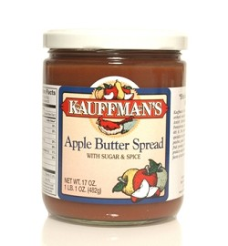 Kauffman's Apple Butter with Sugar and Spice 17 oz Jars