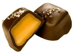 Asher's Dark Chocolate Covered Vanilla Caramel with Sea Salt