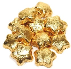 Madelaine Pure Chocolate Gold Foil Covered Mini Stars