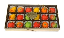 Bergen Marzipan Assorted Fruit Gift Box Marzipan