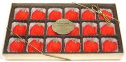 Bergen Marzipan Strawberries With Stem Gift Box