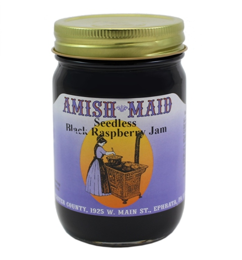Amish Maid Seedless Black Raspberry Jam 12 oz