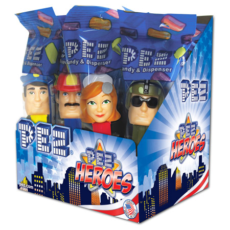 Pez Heroes Counter Display 12 count