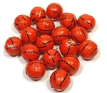 Madelaine Pure Chocolate Foil Wrapped Basketballs