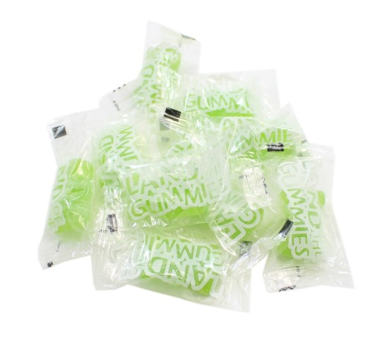 Land Of The Gummies Individually Wrapped Green Gummy Bears