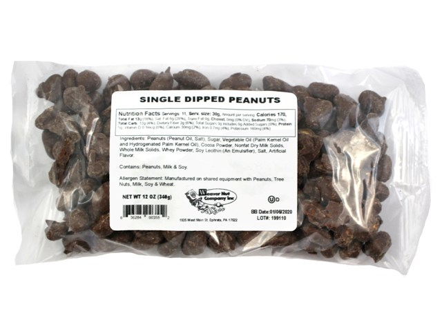 Single Dipped Peanuts Laydown Bag 12 oz
