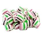 Weaver Nut Lavender, Pink, Green & White Striped Puffs
