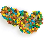 Asher's Milk Chocolate Covered Pretzels Covered with M&M's