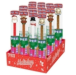 Pez Christmas Cane Tube Counter Display 18 CT