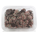 Christmas Chocolate Nonpareils 16 oz Tubs