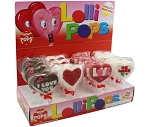 Mom 'n Pops  I Love You (Te Amo) Chocolate Flavored Pops Counter Display