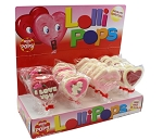 Mom 'n Pops Valentine's Day Chocolate Flavored Pops Counter Display