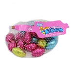 RM Palmer Chocolate Flavored Eggs Mesh Bag Pastel Foils 3.35 oz