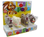 Mom 'n Pops Easter Bunnies Chocolate Flavored Pops Counter Display