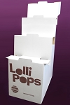 Mom 'n Pops Chocolate Flavored Pops Shipper Display