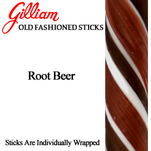 Gilliam Candy Old Fashioned Root Beer Stick