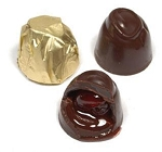 Asher's Dark Chocolate Cherry Cordials Gold Foil Wrapped