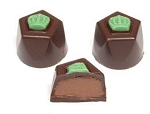 Asher's Dark Chocolate French Mint Truffle