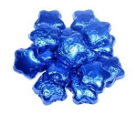 Madelaine Pure Chocolate Blue Foil Covered Mini Stars