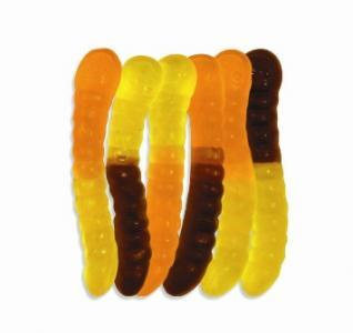 Albanese Gummie Mini Halloween Worms Orange Yellow And Black