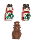 Madelaine Pure Milk Chocolate Miniature Snowman Foil Wrapped