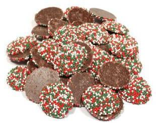 Weaver Chocolates Semi Sweet Christmas Nonpareils
