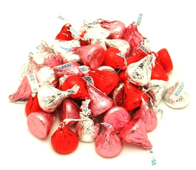 Hershey's Valentine Kisses Red And Silver Wrapper