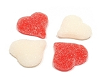 Albanese Red And White Sour Gummi Hearts
