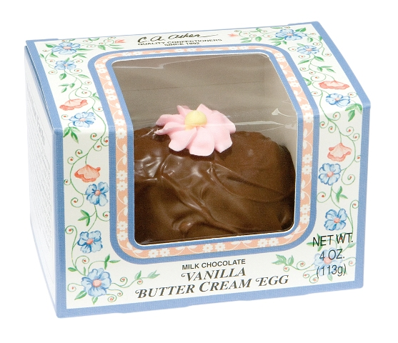 Asher's Milk Chocolate Vanilla Butter Cream Egg 4 oz