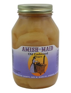Amish Maid Pear Halves 32 oz Jars