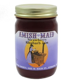 Amish Maid Strawberry Rhubarb Jam 12 oz