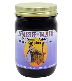 Amish Maid No Sugar Added Black Raspberry Jam 12 oz